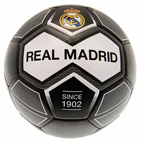 Real Madrid Since 1902 Football - Black/White (Size 5)