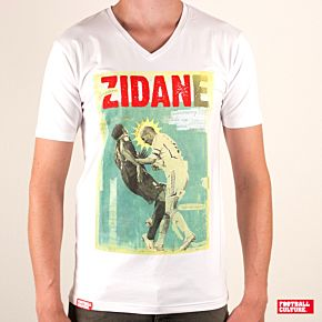 "Football Culture ""Zidane"" V-Neck Tee - White"