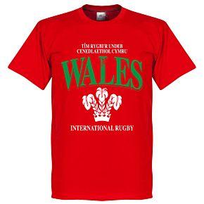 Wales KIDS Rugby Tee - Red