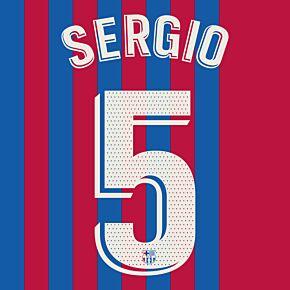 Sergio 5 (Official Printing) - 21-22 Barcelona Home