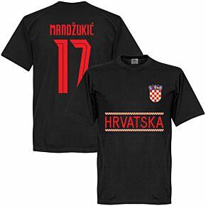 Croatia Mandzukic 17 Team T-shirt - Black