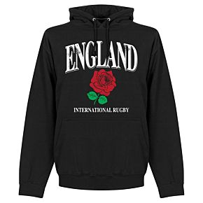 England Rose International Rugby Hoodie - Black