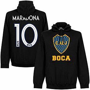 Boca Maradona 10 CABJ Crest KIDS Hoodie - Black