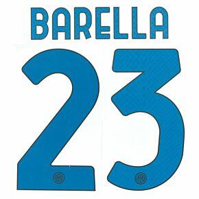 Barella 23 (Official Printing) 21-22 Inter Milan Away