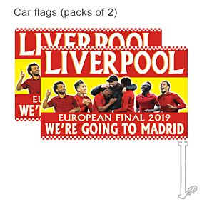 Liverpool Final 2019 Car Flags (pack of 2)