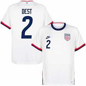 20-21 USA Home Shirt + Dest 2 (Fan Style Printing)