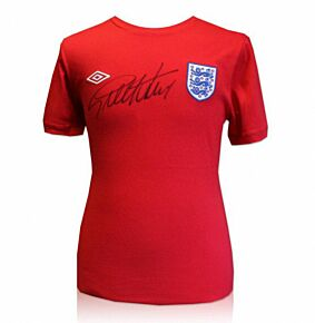 Sir Geoff Hurst Signed England 1966 Style Shirt (Front Signed)