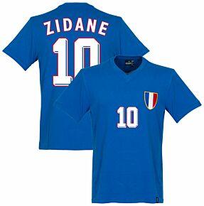 1968 France Olympics Retro Shirt + Zidane 10 (1998 Style)