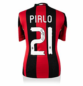 Andrea Pirlo Back Signed AC Milan 10-11 Home Shirt