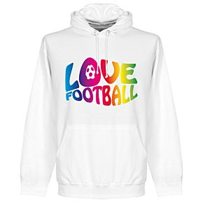 Love Football Hoodie - White