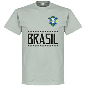 Brazil Team Tee - Light Grey