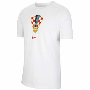 20-21 Croatia Crest T-shirt - white