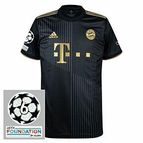 21-22 FC Bayern Munich Away Shirt + UCL 6 Times Winner Patches