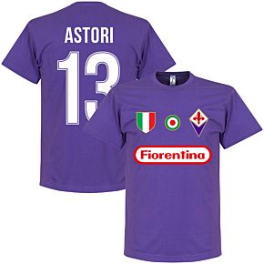 Fiorentina Astori 13 Team T-Shirt - Purple