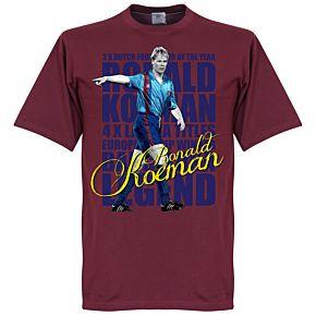 Ronald Koeman Legend Tee - Maroon