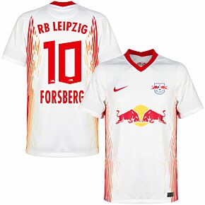 20-21 RB Leipzig Home Shirt + Forsberg 10 (Official Printing)