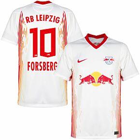 20-21 RB Leipzig Home Shirt + Forsberg 10 (Official Printing)