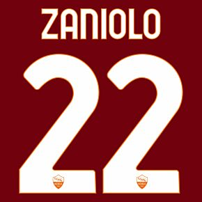 Zaniolo 22 (Official Printing) - 20-21 AS Roma Home
