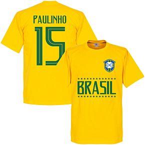 Brazil Paulinho 15 Team Tee - Yellow
