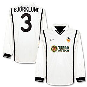 00-01 Valencia Home L/S Jersey + Bjorkland No. 3 - Players