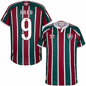 20-21 Fluminense Home Shirt + Fred 9 (Fan Style Printing)