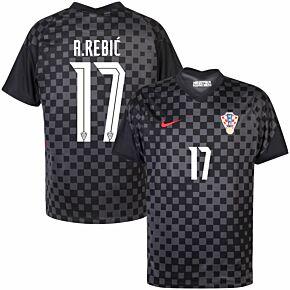 20-21 Croatia Away Shirt + A.Rebić 17 (Official Printing)