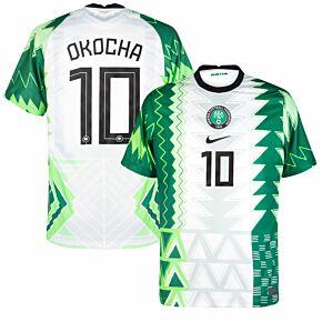 20-21 Nigeria Home Shirt + Okocha 10 (Official Printing)