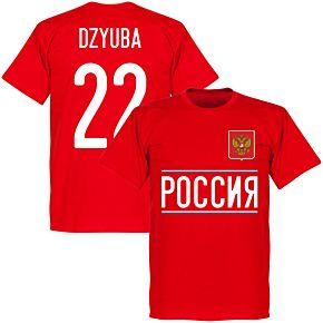 Russia Dzyuba 22 2020 Team T-Shirt - Red