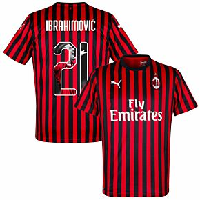 19-20 AC Milan Home Shirt Ibrahimovic 21 (Gallery Style)
