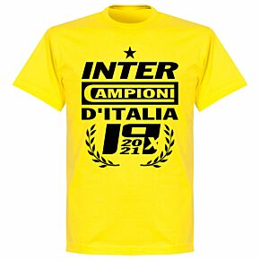 Inter 2021 Champions T-shirt - Lemon Yellow