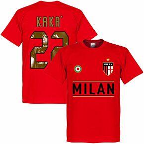AC Milan Kaka 22 Gallery Team KIDS Tee - Red