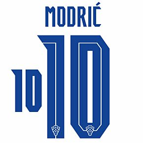 Modrić 10 (Official Printing) - 20-21 Croatia Home