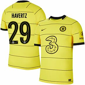 21-22 Chelsea Away Dri-Fit ADV Match Shirt + Havertz 29 (Official Cup Printing)