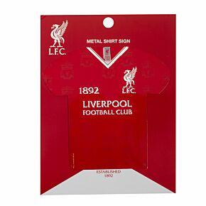 Liverpool Metal Shirt Sign (24 x 24 Approx)