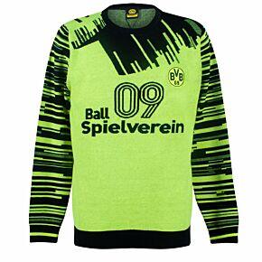 Borussia Dortmund Retro Winter Pullover - Yellow/Black