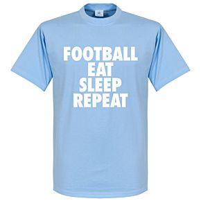 Football Addiction Tee - Sky Blue/White
