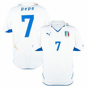 10-11 Italy Away Shirt + Pepe 7