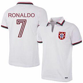 1972 Portugal Away Retro Shirt + Ronaldo 7 (Retro Flock Printing)