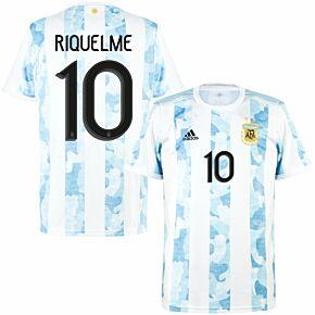 21-22 Argentina Home Shirt + Riquelme 10 (Official Printing)