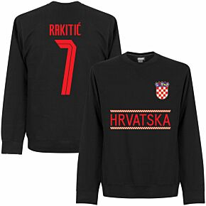 Croatia Rakitic 7 Team Sweatshirt - Black
