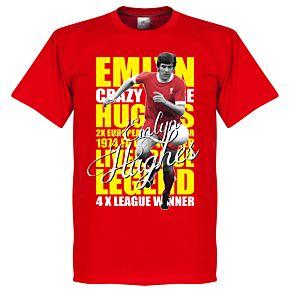 Emlyn Hughes Legend Tee - Red