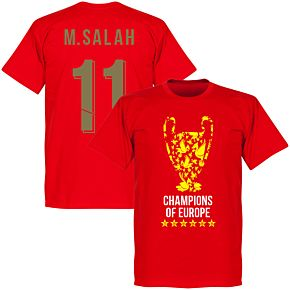 Liverpool Trophy M. Salah 11 Champions of Europe Tee - Red