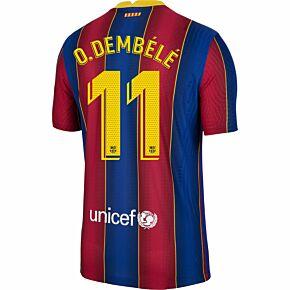 20-21 Barcelona Vapor Match Home Shirt + O.Dembele 11 (Official Pro Size)