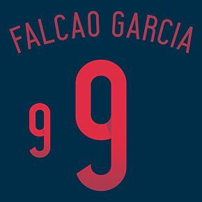 Falcao Garcia 9 - Colombia Away Official Name & Number 2014 / 2015