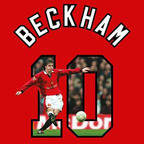 Beckham 10 (Gallery Breakout Style) - 96-97 Man Utd Home