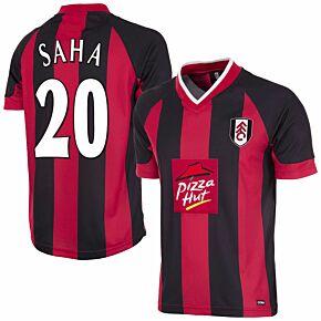 01-02 Fulham Away Retro Shirt + Saha 20 (Retro Flex Printing)