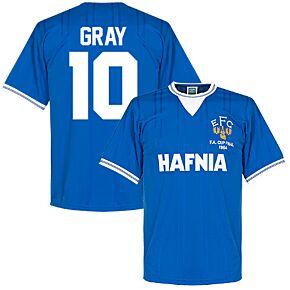 1984 Everton Home FA Cup Final Retro Shirt + Gray 10