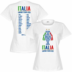 Italia Champions of Europe 2020 Squad Women's T-shirt - White