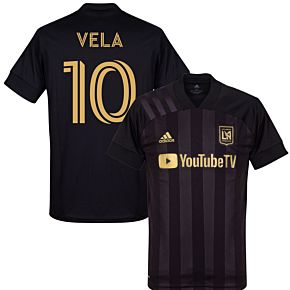 20-21 Los Angeles FC HomeShirt + Vela 10 (Fan Style)
