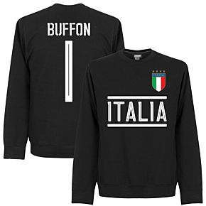Italy Buffon 1 Team Sweatshirt  - Black
